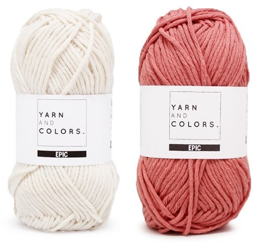 Yarn and Colors Striped Jumper Reversed Knitting Kit 7 S Old Pink