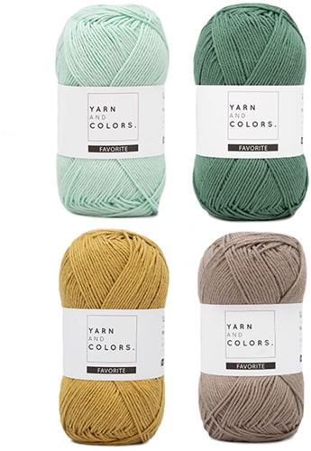 Yarn and Colors Face Scrubbies Crochet Kit 073 Jade Gravel