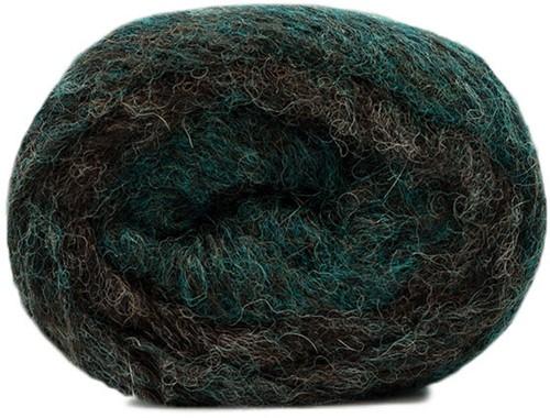 Air Alpaca Degradé Oversized Sweater Knitting Kit 1 Green/Brown 46/52