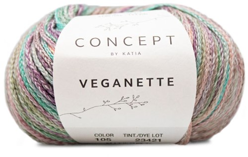 Veganette Girls Cardigan Knitting Kit 1 10 years Pearl Nut / Light Violet / Stone Grey / Aqua Blue