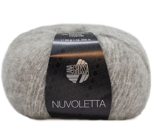 Nuvoletta Poncho Knitting Kit 1 Light grey 36/42