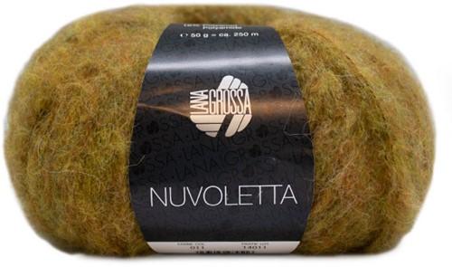 Nuvoletta Long Cardigan Knitting Kit 1 Mustard 36/40