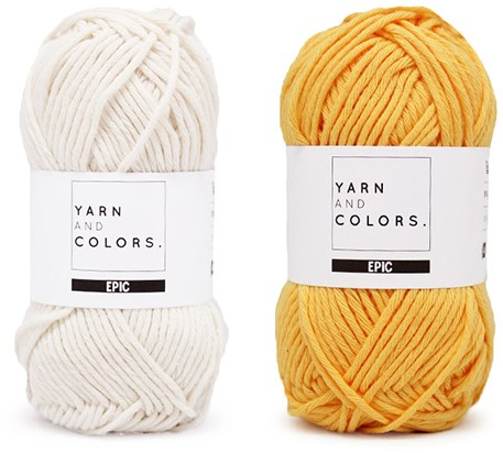 Yarn and Colors Striped Jumper Reversed Knitting Kit 1 S Sunflower