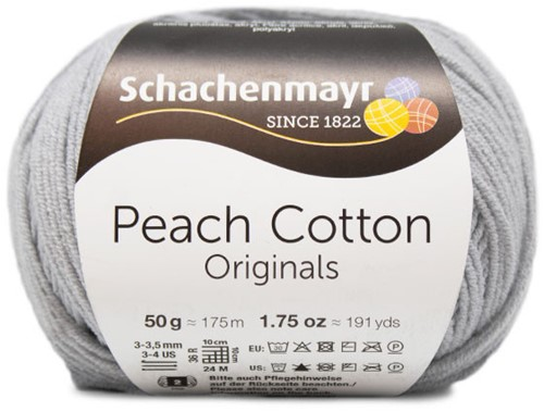 Peach Cotton Maren Summer Sweater Knitting Kit 2 44/46 Silver