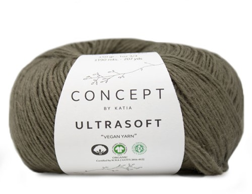 Ultrasoft Garter Sweater Knitting Kit 2 42/44 Khaki