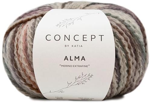 Alma Oversized V-neck Sweater Knitting Kit 2 Beige/Makeup 50/52