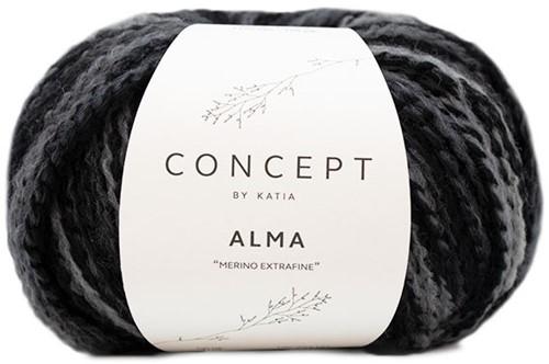 Alma Cardigan Knitting Kit 2 Black/Grey 44/48