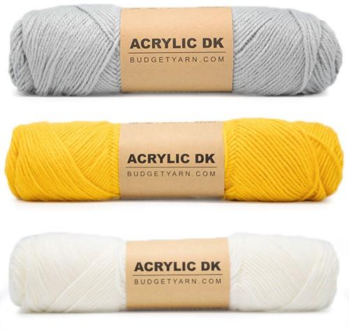 Budgetyarn Poncho Crochet Kit 2 Soft Grey