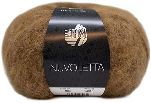 Nuvoletta Poncho Knitting Kit 2 Camel 44/50