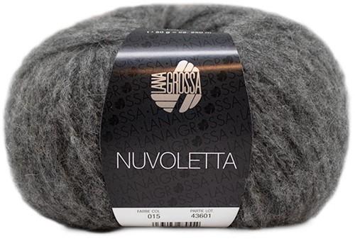 Nuvoletta Long Cardigan Knitting Kit 2 Dark grey 36/40