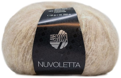 Nuvoletta Coat with Belt Knitting Kit 2 Beige 42/46