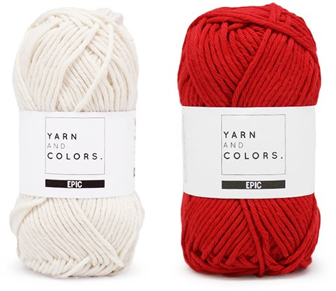 Yarn and Colors Striped Jumper Reversed Knitting Kit 2 L Cardinal