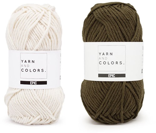 Yarn and Colors Striped Jumper Reversed Knitting Kit 4 S Khaki