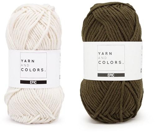 Yarn and Colors Striped Jumper Reversed Knitting Kit 4 M Khaki
