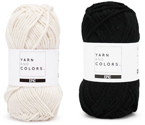 Yarn and Colors Striped Jumper Reversed Knitting Kit 5 M Black