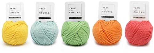 Yarnplaza Rainbow Stroller Toy Chain Crochet Kit 1 Pastel