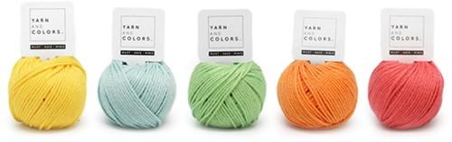 Yarnplaza Rainbow Hanging Stroller Toy Crochet Kit 1 Pastel