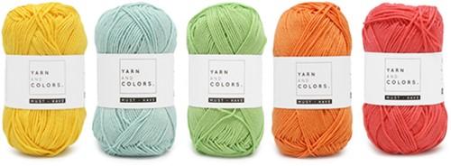 Yarnplaza Rainbow Baby Blanket Crochet Kit 1 Pastel Cot Blanket