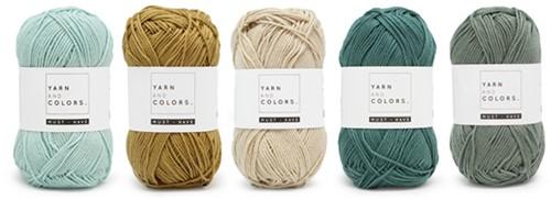Yarnplaza Rainbow Baby Blanket Crochet Kit 2 Vintage green Cot Blanket