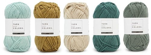 Yarnplaza Rainbow Baby Blanket Crochet Kit 2 Vintage green Ledikantdeken