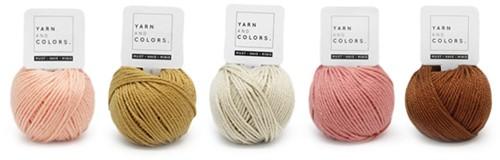 Yarnplaza Rainbow Stroller Toy Chain Crochet Kit 3 Vintage pink