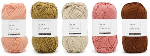 Yarnplaza Rainbow Baby Blanket Crochet Kit 3 Vintage pink Stroller Blanket
