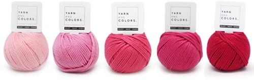 Yarnplaza Rainbow Stroller Toy Chain Crochet Kit 4 Girly