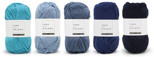 Yarnplaza Rainbow Baby Blanket Crochet Kit 5 Cloudy Wiegendeken