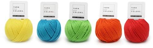 Yarnplaza Rainbow Stroller Toy Chain Crochet Kit 6 Colorful