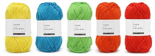 Yarnplaza Rainbow Baby Blanket Crochet Kit 6 Colorful Stroller Blanket