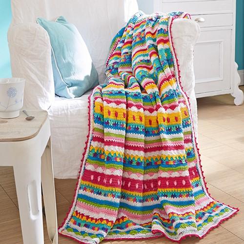 Catania Summerstripes Plaid Crochet Kit