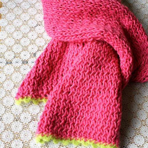 Crochet Pattern Knooking Scarf