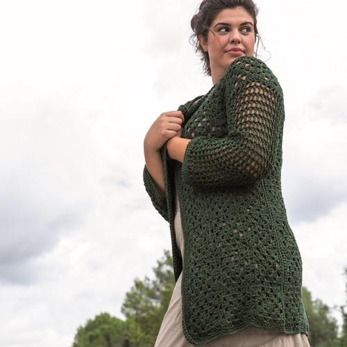 Crochet Pattern Re-Tape Granny Cardigan