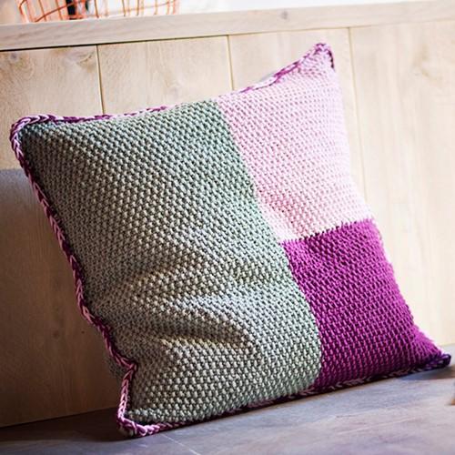 Knitting Pattern Cotton Mix 80 Pillow