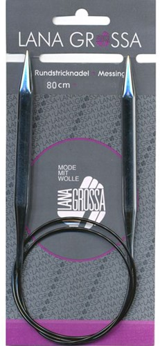 Lana Grossa Brass Circular Knitting Needle 80cm 7,0mm