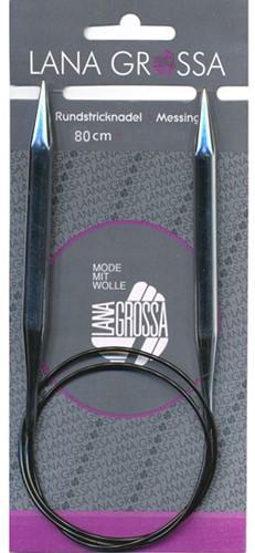 Lana Grossa Brass Circular Knitting Needle 80cm 7,5mm