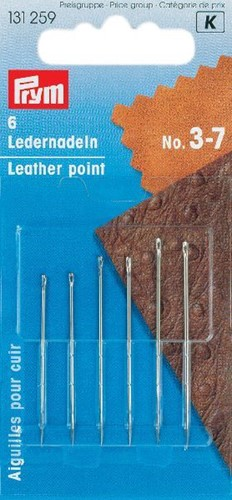 Prym Leather point needles No.3-7