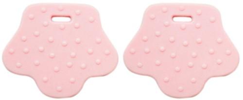 Teether Rings Animal Feet 33 Light Pink