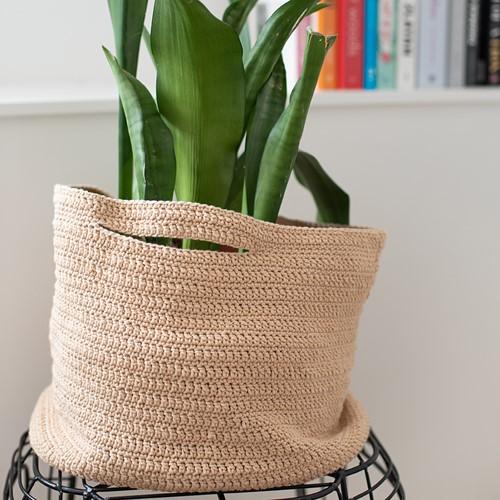 Crochet Pattern Cotton Tube Basket