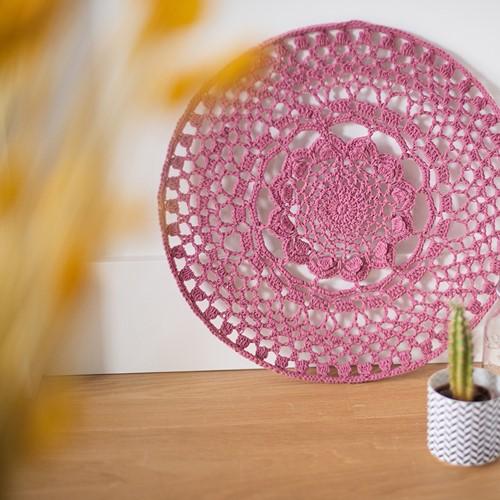 Organic Cotton Mandala Crochet Kit 1 Vintage rose