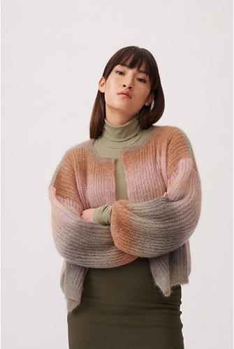 Essentials Super Kid Mohair Loves Silk Print Cardigan Knitting Kit 1 36/40