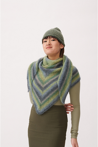 Essentials Super Kid Mohair Loves Silk Print Shawl Knitting Kit 1