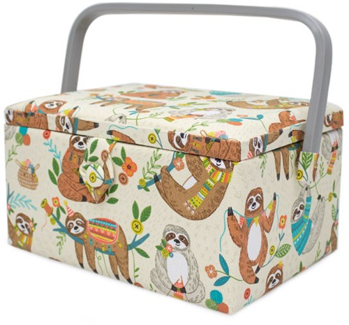 Sewing Basket Medium Sloth