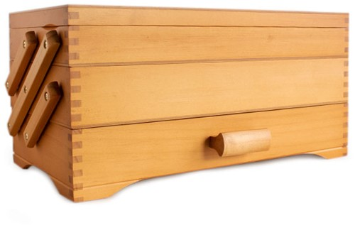 Sewing basket Wood Cantilever 3-Tier