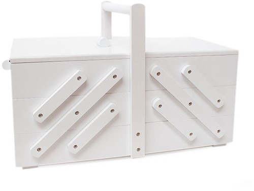 Sewing Box Wood L White