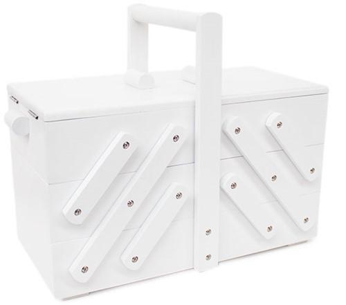Sewing Box Wood M White