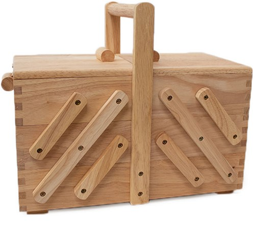 Sewing Box Wood M Light