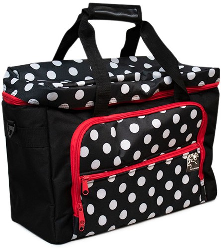 Sewing Machine Bag Polka Dots Black
