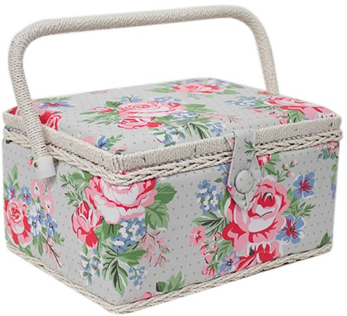Sewing Box Rose Medium