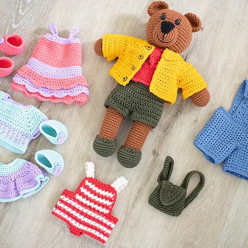 Dream Dress-Up Bear Clothing Crochet Kit